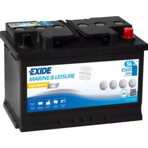 Batería Exide ES650 – 12V – 56Ah – 410A (EN)